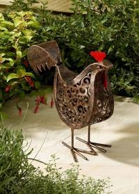Садовый фонарь на солнечных батарейках фигурка Курочки Hen от Smart Garden фото