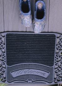 Коврик резиновый грязезащитный для входа в дом Welcome RB238 Esschert Design фото