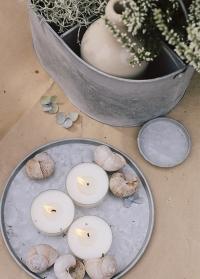Оцинкованная тарелка для декора, поддон для цветочного горшка из оцинкованной стали OZ53 Esschert Design фото