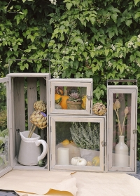 Деревянные ящики в декоре с цветами NG84 Esschert Design фото