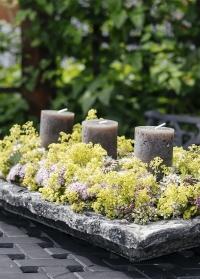 Керамическая декоративная тарелка для флористических композиций AC157 Aged Ceramic Esschert Design фото
