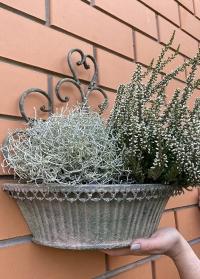 Подвесная металлическая корзинка для цветов AM100 Aged Metal Esschert Design фото