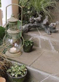 Садовая декоративная фигурка Птицы на ветке из состаренной керамики AC169 Esschert Design фото