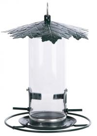 Прозрачная кормушка для птиц закрытая Дубовые листья для сада и дачи FB484 Esschert Design фото