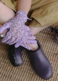 Перчатки для сада и огорода с покрытием из латекса Eglantine Pink  французского бренда AJS-Blackfox фото
