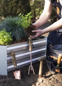 Культиватор ручной трехзубцовый для рыхления почвы Copper GT120 Esschert Design фото