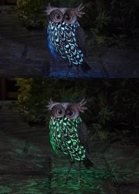 Садовый светодиодный светильник на солнечной батарее фигурка совы Giant Owl от Smart Garden фото