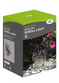 Садовый светодиодный светильник на солнечной батарее фигурка совы Owl от Smart Garden фото
