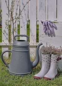 Голландские садовые лейки-кофейники 12 литров для цветов Lungo Light Grey Xala фото