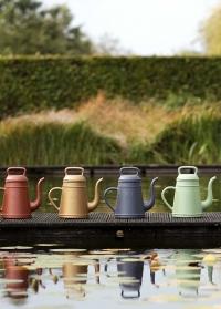 Голландские садовые лейки-кофейник 8 литров для полива цветов Lungo Slate Grey Xala фото