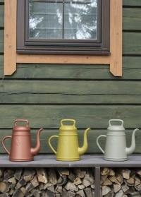 Голландские садовые лейки-кофейники 8 литров для полива растений Lungo Curry Yellow Xala фото