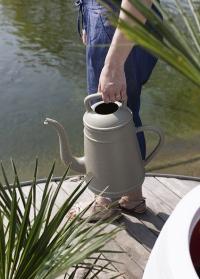Голландские садовые лейки-кофейник 8 литров для полива цветов Lungo Olive Grey Xala фото