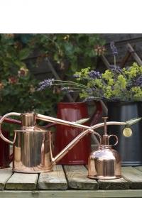 Подарочный набор английская лейка и опрыскиватель для цветов HAWS Rowley Ripple Copper & Copper фото
