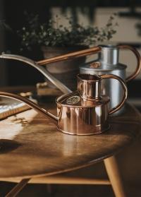 Английские медные лейки для цветов 1 л. HAWS The Fazeley Flow Copper Eddition фото