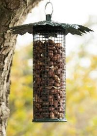 Подвесная садовая кормушка для птиц под орехи Дубовые листья FB483 Esschert Design фото