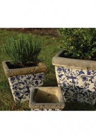 Кашпо квадратные - набор из 3-х штук Aged Ceramic Esschert Design
