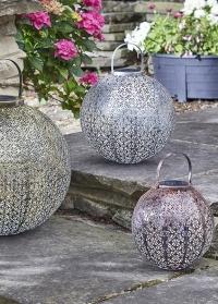 Стильные уличные фонари на солнечной батарее Damasque Bronze Smart Garden фото