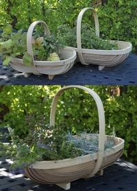 Корзины садовые из шпона от Esschert Design (Нидерланды) фото