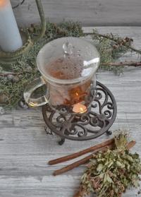 Подставка со свечой для подогрева заварочного чайника CB27 Esschert Design фото