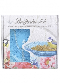 Кормушка дачная для птиц стеклянная тарелка FB331 Blue Esschert Design фото