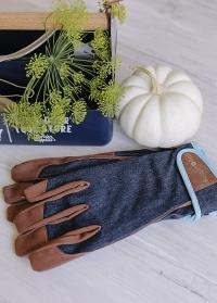 Перчатки мужские садовые для садоводов и дачников Dig The Glove Denim Burgon & Ball картинка