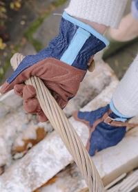 Садовые женские перчатки для ухода за садом Denim Burgon & Ball GLO/DENIM фото