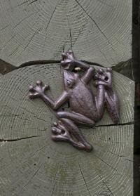 Cадовая фигурка Лягушка из чугуна TT50 голландского бренда Esschert Design фото