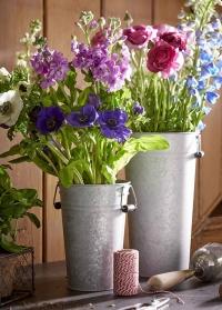 Оцинкованная ваза для цветов для флористических студий OZ32 Esschert Design фото