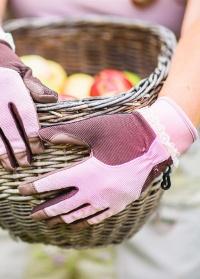 Перчатки кожаные для садовых работ и сбора урожая RH11 Classic GardenGirl фото