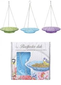 Кормушка для птиц - тарелка из цветного стекла FB331 Green Esschert Design фото