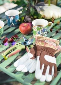 Кожаные садовые перчатки GardenGirl Chelsea Collection AR30 фото
