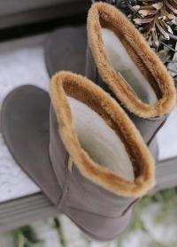 Сапоги угги резиновые зимние для прогулок французского бренда AJS Blackfox фото