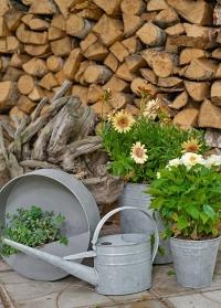 Лейка садовая из оцинкованного металла для сада и огорода W2023 Esschert Design фото