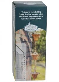 Декоративная металлическая дождевая цепь Медь TH87 Esschert Design фото