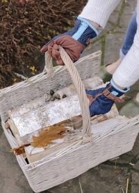 Заказать плетеную корзину для дров MW45 от Esschert Design картинка