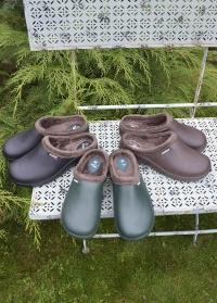 Утепленные галоши из эва с флисовой подкладкой Brown Oslo AJS-Blackfox фото