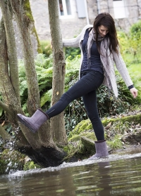 Угги резиновые зимние с утеплителем Gris Cheyenne французского бренда AJS-Blackfox фото