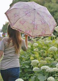 Зонт складной с рюшками GardenGirl Classic UBF02 фото.jpg