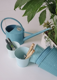 Лейка металлическая для полива комнатных цветов 2 л Sea Green Burgon Ball фото