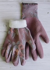 Садовые женские перчатки утепленные Classic Cherry Collection GardenGirl TWG22 фото